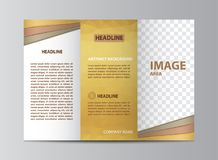 三部合成的小册子模板 库存图片