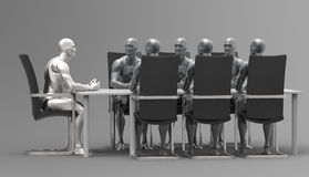 三维人的业务会议 免版税图库摄影