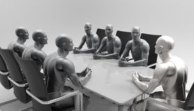 三维人的业务会议 免版税库存照片