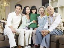 三代家庭 免版税库存照片