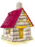 从三头小的猪童话的神仙的房子 免版税库存照片