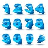 三维数字设置了0-9与百分之 向量例证