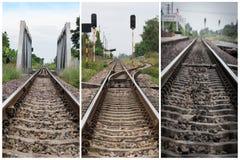 三从泰国的老铁路 免版税库存图片