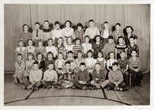 三年级的学生, c 1955年 图库摄影