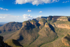 三Rondavels视图,南非 库存图片