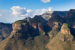 三Rondavels视图,南非 免版税库存图片