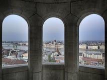 三Windows在多瑙河 免版税库存照片