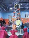 水上乐园, Las Ve看法在发现儿童` s博物馆的 库存图片
