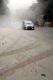 登上克卢德火山的爆发 库存照片