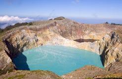 登上克里穆图火山,印度尼西亚 免版税图库摄影