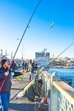 上勾的鱼 免版税库存图片
