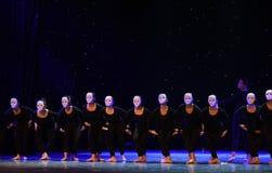 上升和下来这偏僻的舞蹈家现代舞蹈 库存图片