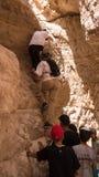 上升在岩石 免版税库存照片