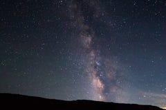上升在拱门国家公园的银河 免版税库存照片