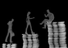 上升在社会位置 免版税库存图片