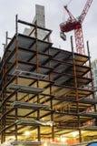 上升在50自由的钢制框架 免版税图库摄影