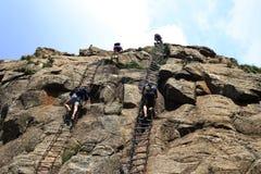 上升在Drakensberge 库存照片