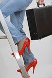 上升工作梯子 库存照片
