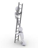 上升帮助的梯子 免版税库存图片