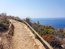 上升方式的图象在贝尼多姆,西班牙海岛的上面的  免版税库存图片