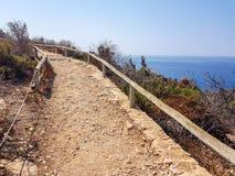 上升方式的图象在贝尼多姆,西班牙海岛的上面的  图库摄影