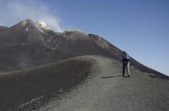 上升火山Etna 图库摄影