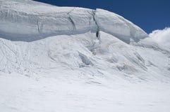 上升的冰川全景 库存照片