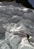 上升的冰川冰puyallup 库存图片
