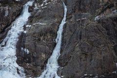 上升的冰,法国阿尔卑斯 库存图片