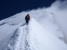 上升的勃朗峰在法国 库存图片