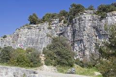 上升的区域在罗维尼在Istria 免版税库存图片