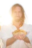 上升的复活节提供面包 库存照片