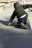 上升的孩子  免版税库存照片