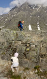 上升的山 库存照片