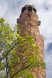 上升的岩石塔 库存图片