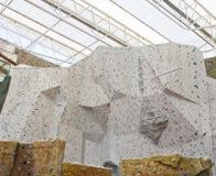 上升的岩石墙壁 免版税库存照片