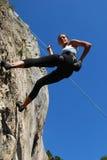 上升的岩石妇女 库存照片