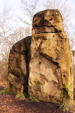 上升的岩石 库存照片