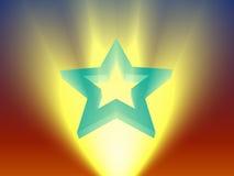 上升的星形 皇族释放例证