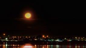 上升的月亮全景 库存照片