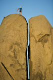 上升的柱子岩石已分解 库存图片