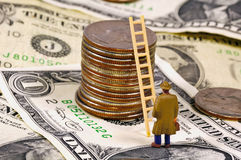 上升的梯子成功 免版税库存图片