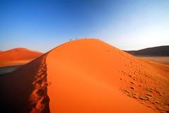 上升的沙丘 库存照片