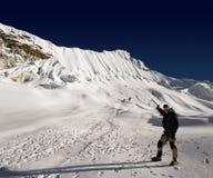 上升的海岛尼泊尔峰顶 免版税库存图片