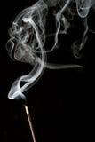 上升的烟白色 免版税图库摄影