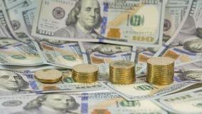 上升的示范乌克兰货币hryvnia (grivna, UAH)的交换率美元的美国(USD) 库存照片