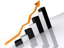 上升的统计数据 库存例证