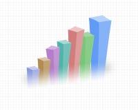 上升的统计数据 库存照片