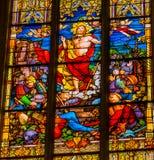 上升的耶稣彩色玻璃诸圣日教会Schlosskirche维滕 免版税库存图片