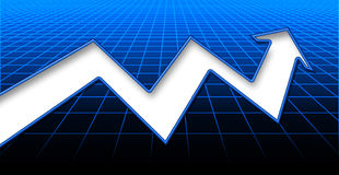 上升的股票 库存图片
